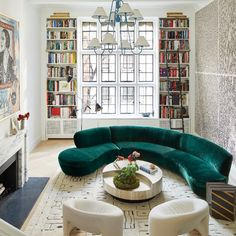 See More of Derek Blasberg's Fun-Filled Manhattan Apartment - Architectural Digest Furniture Trends, Upper East Side Apartment, Contemporary Living Room, Everything But The House, Round Sofa, Interior Design, Contemporary Living, Sunken Living Room, Architectural Digest