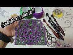Bolso de Encaje de Bolillos con dos caras acabado - Ruso - Raquel M. Adsuar Bolillotuber - YouTube