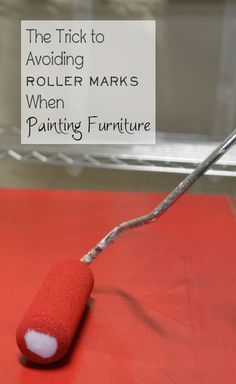 I just figured out how to stop getting roller marks and streaks, which has been driving me crazy this week. Here's the tip on what you can do to reduce or get rid of all roller marks when painting furniture. View the slideshow below to read more: