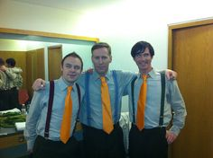 """The Frank and Walters: Cian Corbett, Paul Linehan and Rory Murphy. Taken backstage at The Late Late Show promoting the new single """"Indie Love Song"""" available Feb 2012 Indie Love Songs, The Late Late Show, Backstage, Bomber Jacket, Music, Musica, Musik, Muziek, Music Activities"""