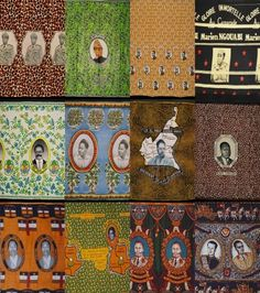 fabric, African presidents on wax print
