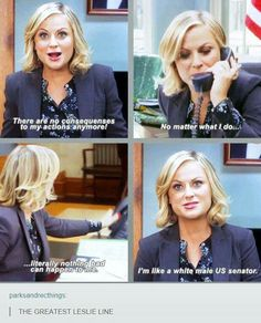 Leslie Knope gets real about consequences