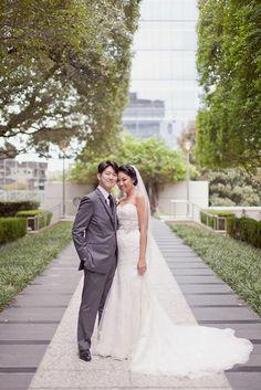 D Weddings | Heather Nam & Dale Chong - Justin Alexander wedding gown
