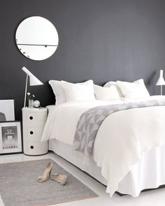 Wonderful White bedroom sets Design Ideas 2020 Part 40 White Bedroom Set, Cozy Bedroom, Bedroom Sets, Bedroom Decor, Bedroom Black, Bedroom Mirrors, Bedroom Set Designs, Modern Bedroom Design, Bedroom Styles