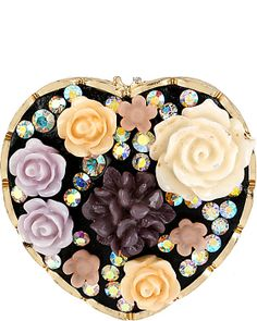 FABULOUS FLOWERS HEART RING MULTI accessories jewelry rings fashion