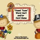 This Thanksgiving themed  Word Sort & Card Game will give your students lots of practice working with Vowel Teams. It's great to use in Literac...