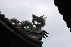 Dragon Decoration at a Taipei Temple