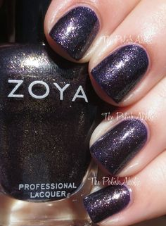 Zoya Fall 2014 Ignite Collection , Sansa is a dark purple with a strong golden shimmer