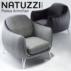 Natuzzi Platea Vitra Lounge Chair, Sofa Chair, Armchair, Adams Furniture, Sofa Furniture, Furniture Design, Wood Chair Design, Lounge Chair Design, Round Couch
