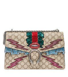 ShopBazaar Gucci Medium Embroidered Bag MAIN