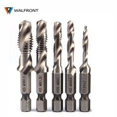 6Pcs High Speed Steel HSS 4241 Forets Hex Shank Spirale Robinet M3-M10 NEUF