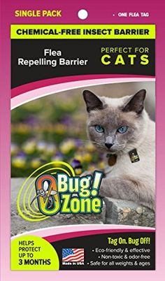 0BugZone Cat Flea Barrier Tag Single Pack >>> Click image to review more details.(This is an Amazon affiliate link and I receive a commission for the sales)