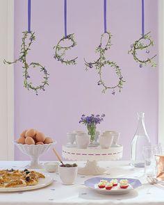 Party idea: Lavender Baby shower
