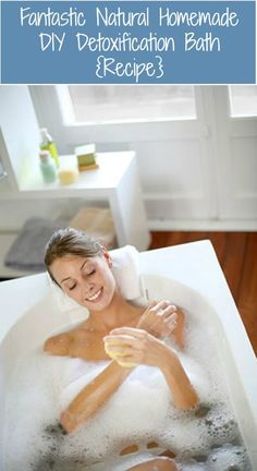 Rejuvenate and relax with an amazing bath. Detox Bath Recipe: 2 Cups of Epsom, Salt, 1/2 cup of Sea Salt, 1 & 1/2 Cups of Baking Soda, 1 Cup of Apple Cider Vinegar, 1 -4 Tablespoon of Ground Ginger (depending on personal preference),Essential oil or Homemade Bath Salts (if scent is desired) Click on pin photo for full instructions.