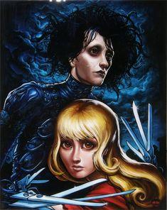 Cult Movies, Horror Movies, Tim Burton Art, Fanart, Emo Art, Reservoir Dogs, Edward Scissorhands, Alternative Movie Posters, Actors