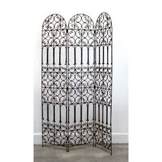 moroccan iron screen, hand-forged