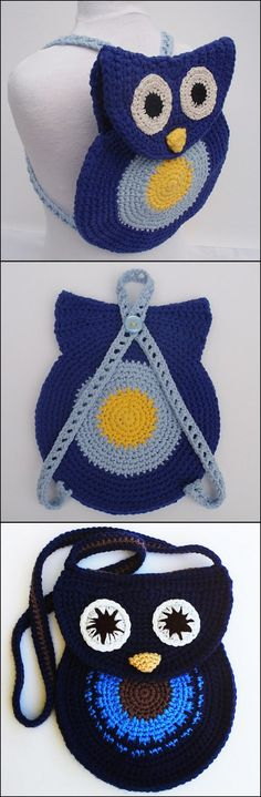 Crochet Owl Backpack with Free Pattern