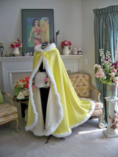 Belle Beauty and Beast Bridal cape 52 inch by capeandcrown13
