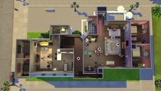 """A wonderful soul has recreated the set of Friends in the latest Sims It is crazy accurate. Some Genius Has Recreated """"Friends"""" In The Sims 4 Friends Apartment, Apartment Ideas, Sims 4 House Plans, Casas The Sims 4, Sims Games, Sims 4 Build, Friends Show, Friends Scenes, Friends Episodes"""