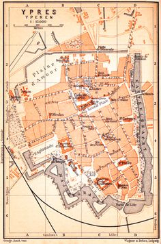 Ypres, city map, 1904
