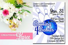 Event Flyer - Globetrotter Styled Event Fundraising Bowling Flyer 1 by CreationsbyLepree on Etsy