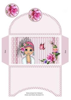 Flapper Emma Money Wallet on Craftsuprint designed by Janet Roberts - This money wallet will fit my 'Flapper Emma' mini kit..... please see the link below - Now available for download!