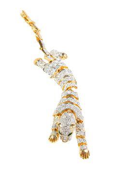 Vintage Gold Jaguar Shoulder Pin, $98, available at R29 Shops.