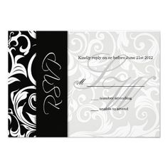 ReviewBlack and White Swirl Wedding RSVP Personalized Announcementslowest price for you. In addition you can compare price with another store and read helpful reviews. Buy