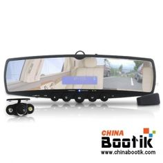 Car Rearview Mirror with Wireless Parking Camera (Bluetooth, MP3, FM Transmitter) #car #camera