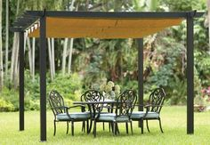 Love this pergola with retractable canopy