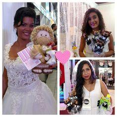 Nossas noivinhas da  Expofashionnoivas 2016... todas lindas divulgando nossos produtos na maior feira de noivas 😍