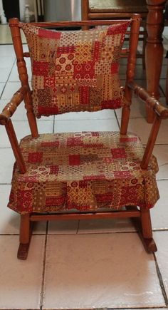 Treasury Antique Child Rocking Chair Musical Ooak