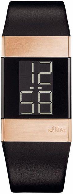 s.Oliver RED LABEL Quarzuhr »SO-2951-LD« für 85,95€. Coole Armbanduhr für Frauen, Gehäuse aus Edelstahl, roségoldfarben IP besch., ca. 35/24 cm bei OTTO