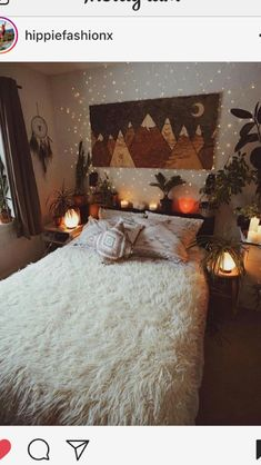 Vintage Decor Ideas boho style decor ideas 41 - Bohemian style lovers are mostly artistic type of peoples who loves entertainment, exploring and living an unconventional lives. Bohemian style home decor means the … Dream Rooms, Dream Bedroom, Cozy Bedroom, Bedroom Decor, Bedroom Ideas, Coziest Bedroom, Teen Bedroom, Bedroom Designs, Modern Bedroom