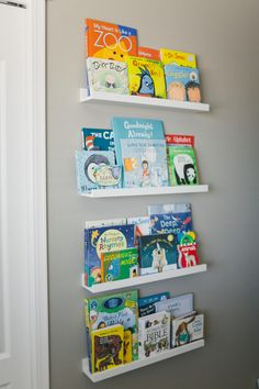 Nursery wall shelves
