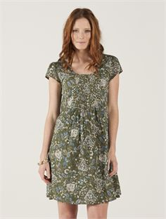 2015 Summer Nomads SH24 Dress in Shala Sage £50.00 (inc VAT) Product code: 1022 This is the gorgeous new short sleeved printed tunic dress from the Summer '15 collection at Nomads Clothing. Easy styling, along with the stunning print design called Shala. The beautifully sequined front pintuck panel is a real feature of this tunic.  100% Cotton Voile Fully Lined Designed in Cornwall Made in India Machine wash on delicates 30c Do NOT Tumble 100% Fairtrade from…