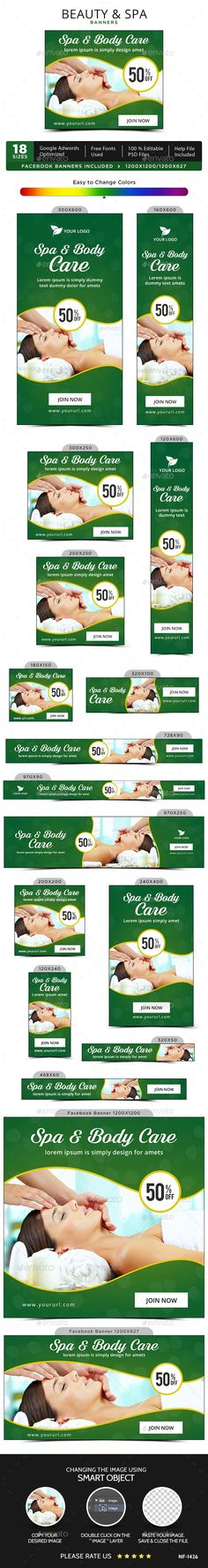 Beauty & Spa Banners Design Template - Banners & Ads Web Template PSD. Download here: https://graphicriver.net/item/beauty-spa-banners/17076242?s_rank=272&ref=yinkira
