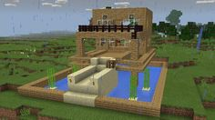 minecraft house above water