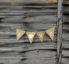 Your place to buy and sell all things handmade Burlap Bunting, Bunting Banner, Wedding Silverware, Wedding Rentals, White Letters, Custom Banners, Love Is Free, Wedding Decorations, Wedding Ideas