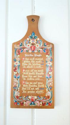 Berggren Cutting Board Kitchen Prayer Floral Vintage Kitchen Decor Wall Hanging by Pesserae on Etsy
