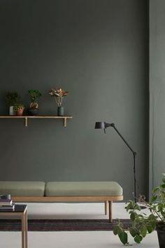 Simple Scandinavian Interior Design Ideas For Living - Living Room Green, Green Rooms, Living Room Paint, Living Room Colors, Living Room Designs, Living Room Decor, Living Rooms, Bedroom Colors, Bedroom Ideas