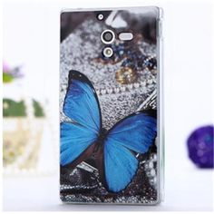 LOTIYO Brightly Fine Blue Dielian PC Painted Series Hard Case For Sony Xperia ZL