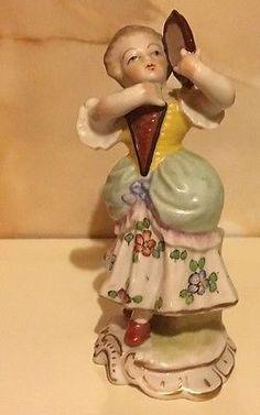 Capo di monte price guide blanca rosa pinterest price guide antique sitzendorf porcelain figurine of a lady with tambourine altavistaventures Choice Image