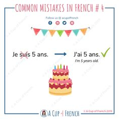 Learn French with A Cup of French! Easy and fun lessons with infographics and videos. You can enjoy your cup of French wherever you want and at your own pace. French Adjectives, French Verbs, French Grammar, English Grammar, French Language Lessons, French Lessons, Spanish Lessons, How To Speak French, Learn French
