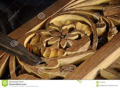 Malaysian Traditional Wood Carving From Terengganu Stock Photo ...