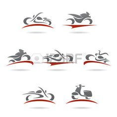 Illustration of Black motorcycle silhouette vector art, clipart and stock vectors. Bike Tattoos, Motorcycle Tattoos, Motorcycle Logo, Motocross Logo, Small Motorcycles, Dj Logo, Motorcycle Stickers, Bike Logo, Wing Tattoo Designs