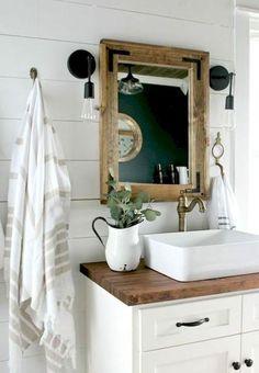 Modern farmhouse bathroom design and decor ideas (45)