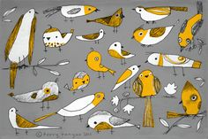 wonderful bird drawings by Terry Runyan