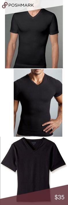 303321924c0e3 Spanx Cotton Compression V-Neck Undershirt M T604 Excellent condition Spanx  Men s Cotton Compression V