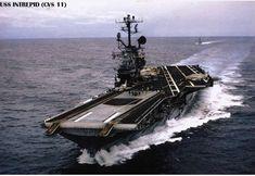 Us Navy Aircraft, Navy Aircraft Carrier, Essex Class, Uss Intrepid, Battle Fleet, First Indochina War, Go Navy, Us Navy Ships, Navy Life